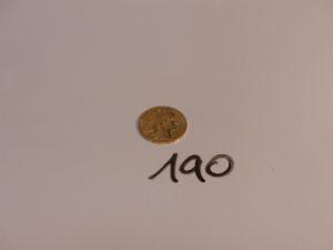1 pièce de 20Frs en or RF1907. PB 6,4g