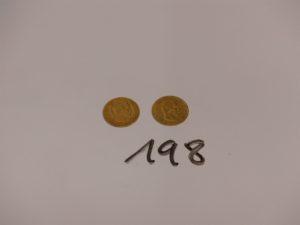 2 pièces de 10Frs en or NAPIII (1855A/1860A). PB 6,4g