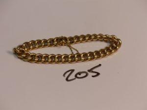 1 bracelet maille gourmette en or (L20cm). PB 13,3g