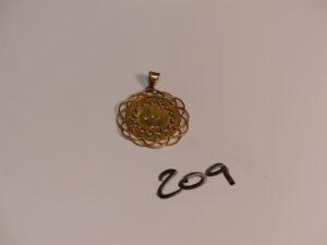 1 médaille de la Vierge en or. PB 5g