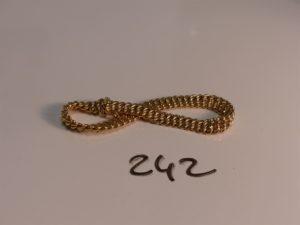 1 bracelet maille américaine en or (L18cm). PB 10,7g