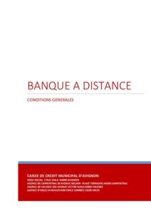 Conditions générales banque à distance