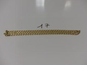 1 chaîne maille marine en or (L62cm). PB 11,6g