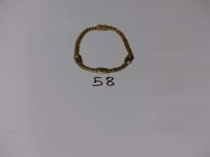 1 bracelet maille gourmette en or (L21cm). PB 15,5g