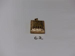 1 pendentif Coran ouvrant en or (H4,5cm). PB 16,8g