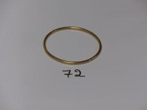 1 bracelet jonc en or (diamètre 6,5cm). PB 24,8g