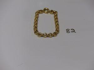 1 bracelet maille jaseron en or (L19cm). PB 13,9g