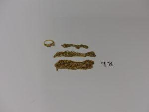 1 Lot casse en or et petites pierres. PB 17g