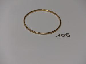 1 bracelet jonc en or. PB 19,7g