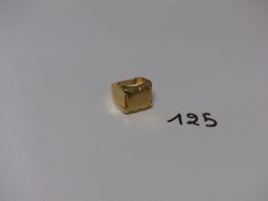 1 chevalière en or (monture fendue,Td58). PB 7g