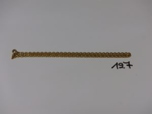1 chaîne maille forçat en or (L50cm). PB 7,7g