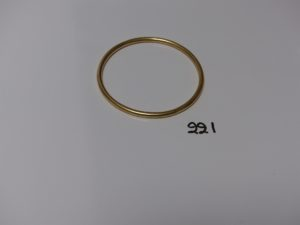 1 bracelet jonc en or (diamètre 7cm). PB 35,8g