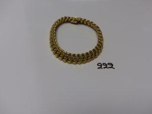 1 bracelet maille américaine en or (L22cm). PB 31,2g