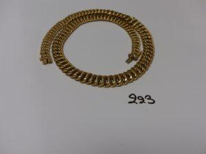 1 collier maille américaine en or (L47cm). PB 37,6g