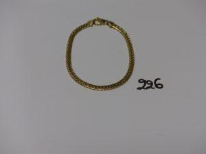 1 bracelet maille anglaise en or (L18cm). PB 6g