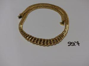 1 collier maille américaine en or (abimé, L45cm). PB 20,1g