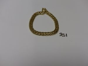 1 collier maille palmier en or (L44cm). PB 25,5g