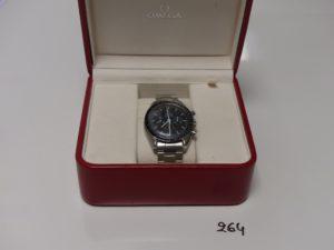 1 Montre bracelet OMEGA Speedmaster, boitier et bracelet en acier Etat neuf Calibre 1861 (avec certificat)