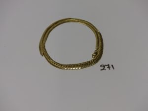 1 collier maille anglaise en or (L42cm). PB 14,7g