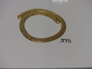 1 collier maille tressée en or (L40cm). PB 23g