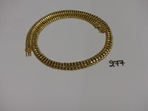 1 collier maille américaine en or (L46cm). PB 25,1g