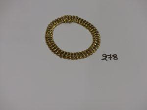 1 bracelet maille américaine en or (L21cm). PB 16,4g