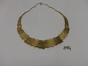 1 collier en or articulé bicolore (L42cm). PB 21,6g