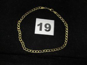 1 Bracelet en or en maille gourmette ( L 23 cm). PB 5,4g