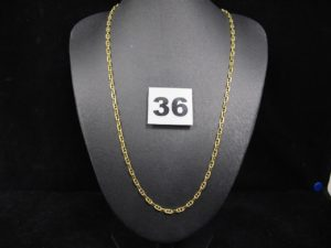 1 Chaine en or maille marine (L 46cm). PB 9,4g