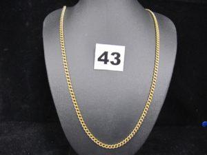 1 Chaine en or maille gourmette (L 57cm). PB 23,4g