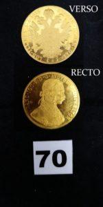 """1 Pièce en or 4 Ducats """"Francois Joseph I"""" année 1915. PB 13,9g"""