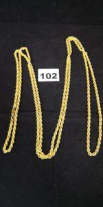 1 Sautoir en or maille corde (L 188cm). PB 52,8g