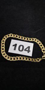 1 Bracelet en alliage 585/1000 (14k) maille gourmette (L 20cm). PB 8,2g