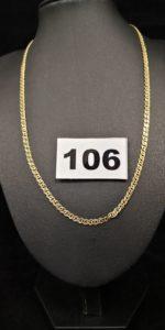 1 chaine en maille ( L 42cm) en alliage 585/1000 (14k). PB 5,5g