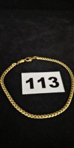 1 Bracelet en or maille anglaise (L 21cm). PB 8,2g