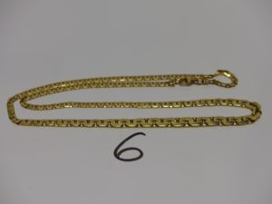 1 collier maille haricot en or (L44cm). PB 7,2g