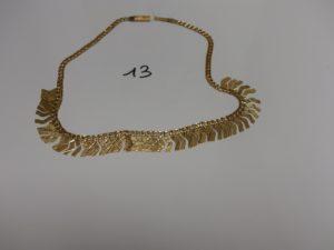 1 collier draperie en or (L43cm). PB 18,3g