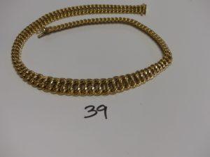 1 collier maille américaine en or (L46cm). PB 30,5g