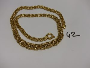 1 collier maille royale en or. PB 23,3g