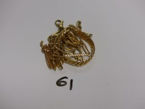 1 lot casse tout or (bracelets, croix). PB 28,9g