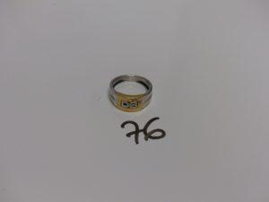 """1 chevalière 2 ors initiales """"DB"""" gravées (Td58). PB 5,8g"""
