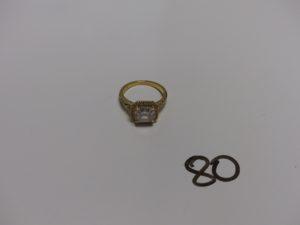 1 bague en or ornée de nombreuses pierres (Td54). PB 4,3g