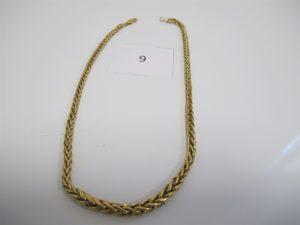 1 Collier en or maille palmier en dégradé(L44cm).PB 20,7 g.