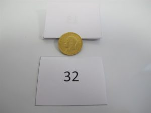 1 Souverain Georges V de 1931 en or 22 kPB 7,98 g.