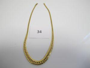 1 Collier en or maille anglaise en dégradée(L44cm).PB 17,3g.