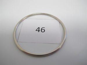 1 Jonc en or gris (D6,5cm).PB 19,1g.