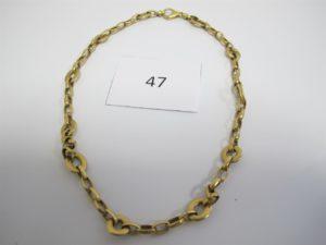 1 Collier en or maille fantaisie(L42cm).PB 21,1g.