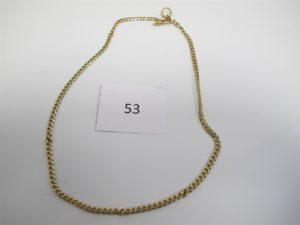 1 Giletière en or fermoir mousqueton cassé.PB 27,3g.