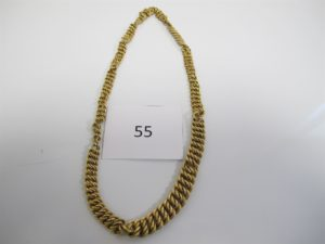 1 Collier en or maille américaine usagé (L40cm).PB 23,3g.