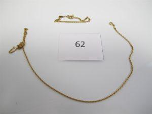 1 Chaine en or brisée,1 bracelet en or brisé.PB 7,5g.